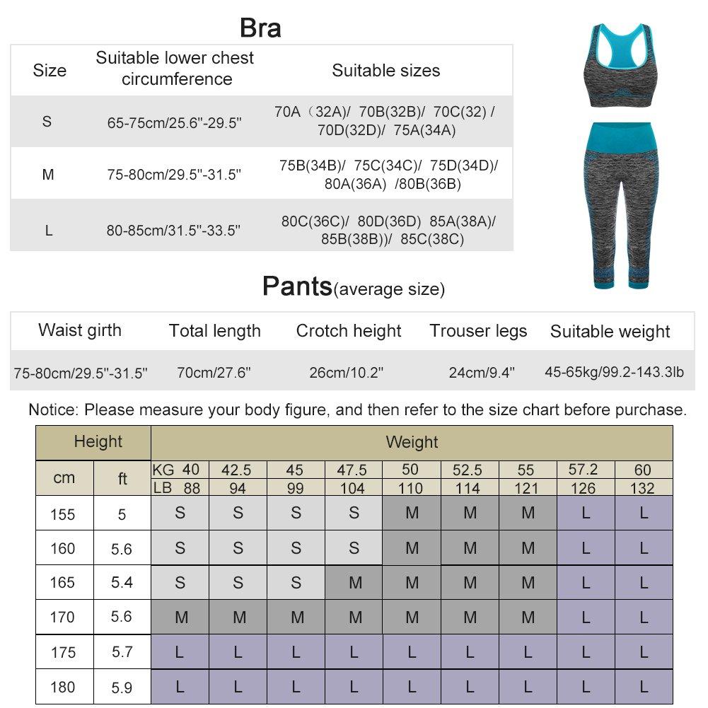 FITIBEST Deportes Sujetadores Yoga Pantalones Leggings Deporte Conjuntos para Mujer Running Fitness Pilates: Amazon.es: Ropa y accesorios