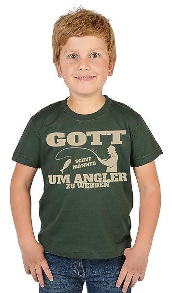 Angler Kinder Shirt Lustige Sprüchemotive Angeln Für Kinder Gott Schuf Männer Um Angler Zu Werden Bekleidung Kinder Angelnangel Sport