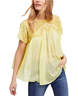 ae384414cdade Free People Womens Vacay Vibin  Mixed Media Cold Shoulder Casual Top ...