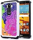 LG G Stylo / LG G Stylus (LS770) Case, NageBee Design Premium [Heavy Duty] Defender [Dual Layer] Protector Hybrid Case for LG G Stylo / LG G Stylus (LS770) (Hybrid Rainbow Illusion)
