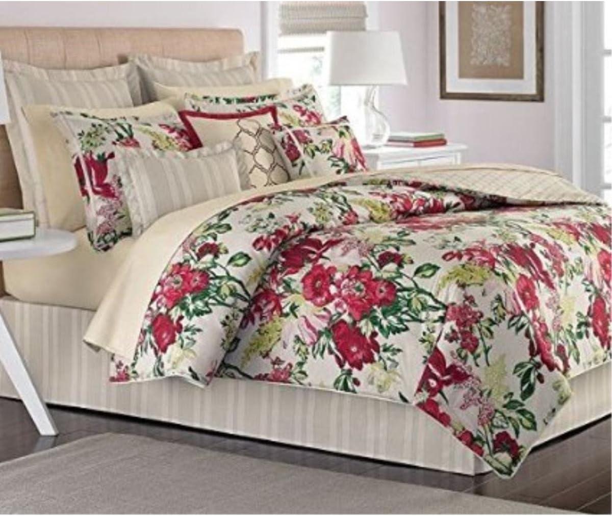 Martha Stewart Lush Blossom 3 Piece Decorative Pillow Set
