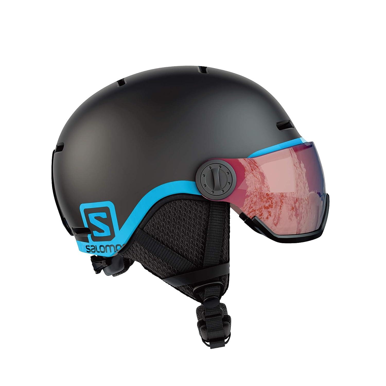 Salomon Kinder Grom Visor Ski- und Snowboardhelm, mit Visier, In-Mold-Schale und EPS-Innenschale