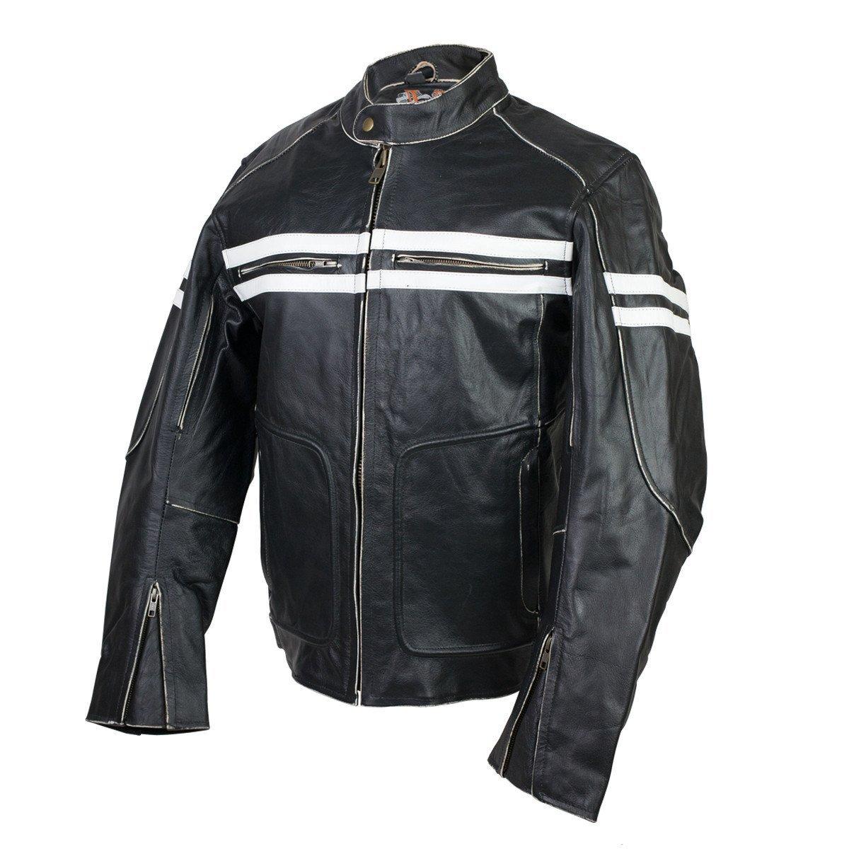 Vintage Premium Distressed Leather Motorcycle Leather Jacket