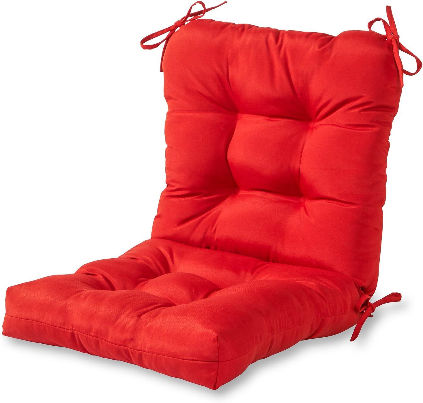 Greendale Home Fashions AZ5815-SALSA Fire 42'' x 21'' Outdoor Seat/Back Chair Cushion