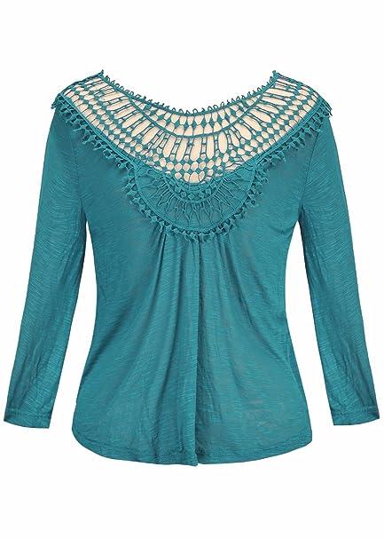 Las camisetas de manga larga cortadas del cuello atractivo para mujer de O forman las camisetas