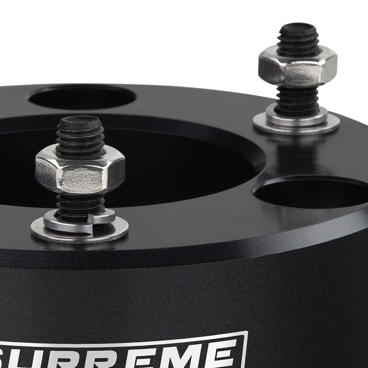 Supreme Suspensions Black Front Lift Kit for Chevy Silverado 1500 Leveling Kit 2.5 Front Lift Aircraft Billet Lift Strut Spacers 2WD 4WD 6-Lug