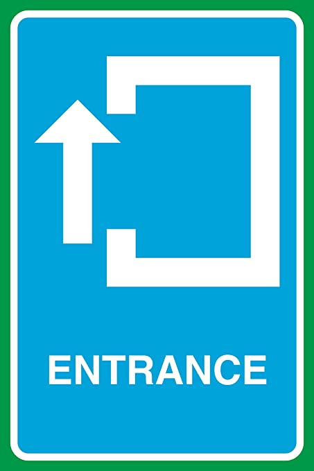 Entrance Up Arrow Red /& Chrome 13 oz Banner Heavy-Duty Vinyl Single-Sided with Metal Grommets