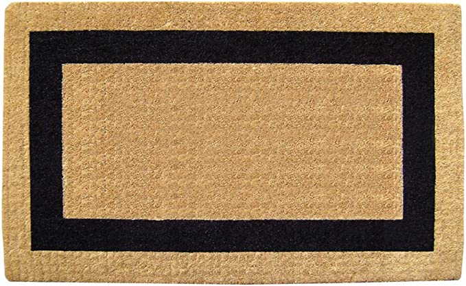 Nedia Home O2019 Heavy Duty Coir Doormat 22 X 36 Black Area Rugs Garden Outdoor