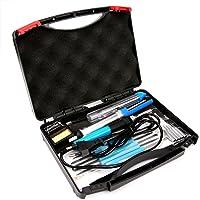 [Kit de Soudage] Luxebell 17 en 1 Fer à Souder Electrique 60W 220V Température Réglable 200°C-450°C Mini Outils Électroniques pour Soudage Différents Composants Electroniques