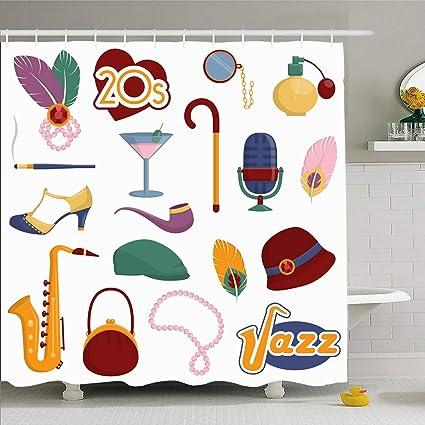 Amazon Com Ahawoso Shower Curtain 66x72 Inches Hat Vintage
