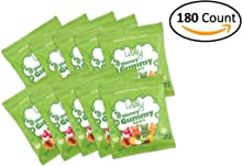 GELATIN-FREE Honey Gummy Bears (180-count Snack Packs) - Lovely Candy Co. - NO HFCS, GLUTEN or Fake Ingredients! (Original)