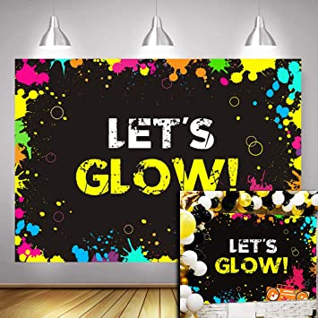 Wondrous Water Colored Lets Glow Splatter Photography Backdrop Photo Personalised Birthday Cards Petedlily Jamesorg