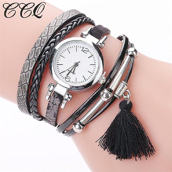 Amazon.com: Reloj de cuarzo para mujer hosamtel muchachas ...
