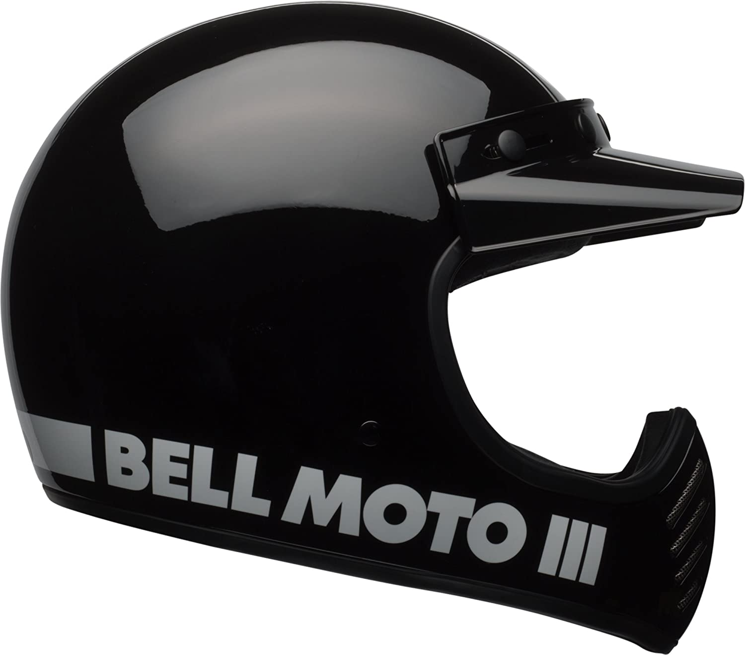 Amazon.com: Bell Moto-3 Off-Road Motorcycle Helmet (Classic Gloss Black, XX-Large): Automotive