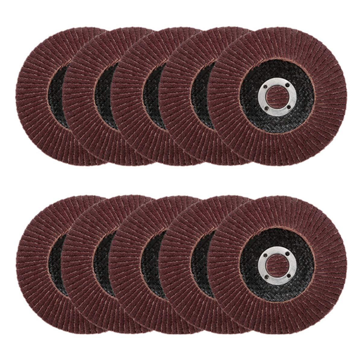 Nisorpa 115MM/4.5'' Flap Sanding Discs 25pcs Pack Flap Disc 40 Grit Bulk Industrial Premium Aluminium Oxide Abrasive Stainless Steel Grinding Wheels for Metal Wood Sanding Polishing