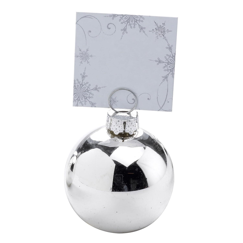 Neviti Segnaposto a forma di Pallina argentata lucida - set da 6 pezzi 594504