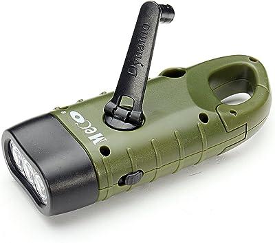 Cranking Solar Powered Rechargeable Flashlight Emergency LED Flashlight