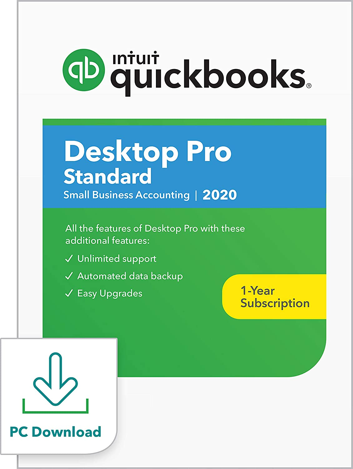 QuickBooks Desktop Pro Plus (Standard) 2020 Accounting Software for Small Business [PC Download]