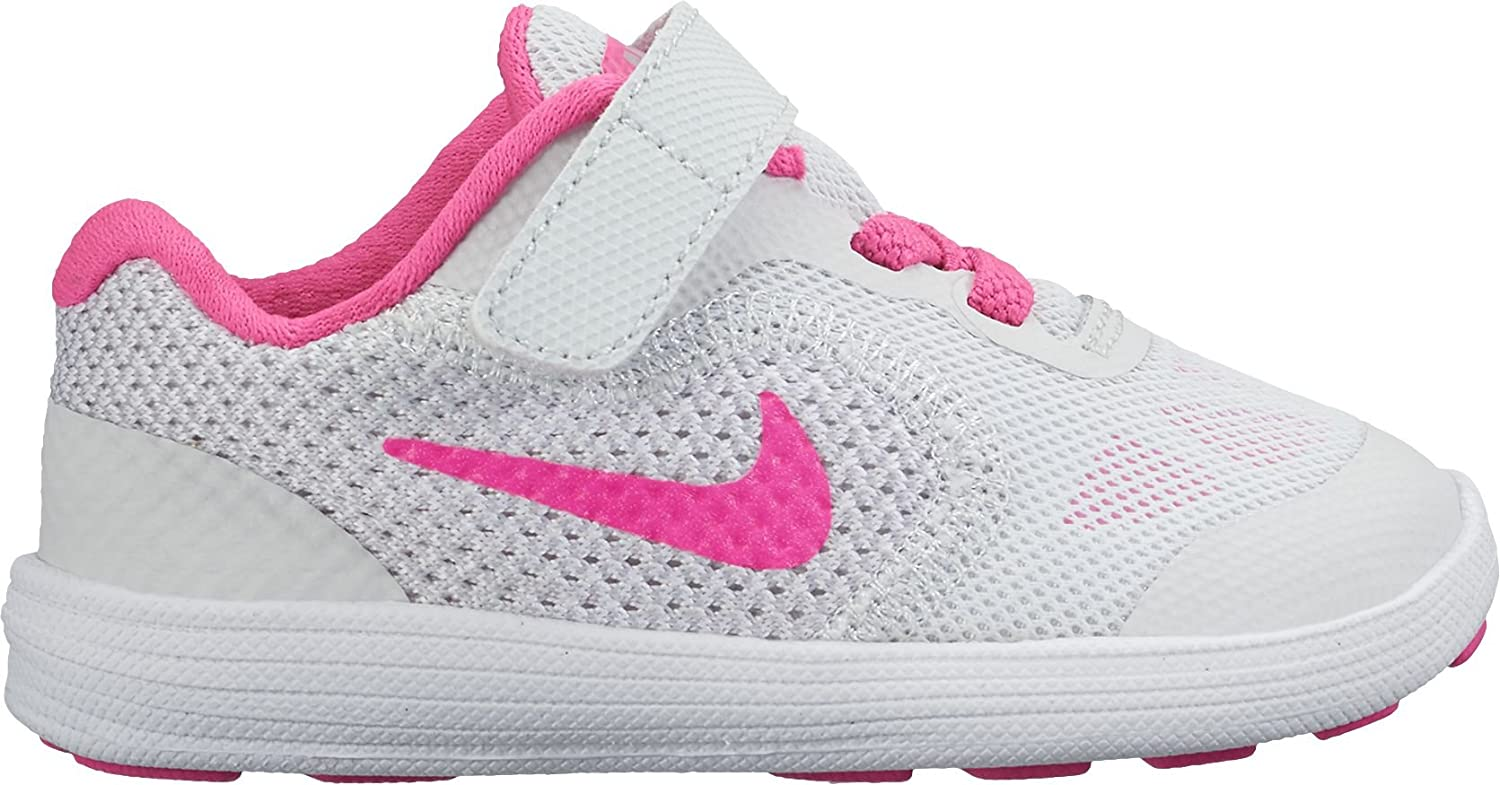 Nike Revolution 3 (TDV), Zapatillas de Trail Running Unisex niño, Multicolor (Pure Platinum/Pink Blast/Wolf Grey/White 007), 27 EU: Amazon.es: Zapatos y complementos