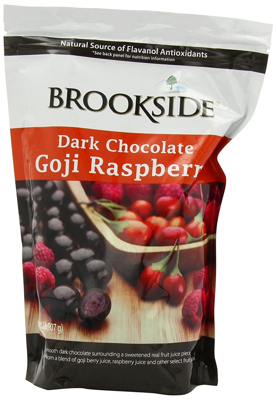 Amazon.com : Brookside Dark Chocolate with Goji Raspberry, 32 ...
