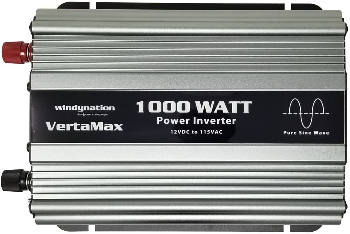 Amazon.com: VertaMax Pure SINE Wave 1000 Watt (2000W Surge) 12V 12 Volt  Power Inverter DC to AC Power (Cables + Remote Control Switch + ANL Fuse +  USB Port) - Solar, RV, Car, Boat: Car Electronics