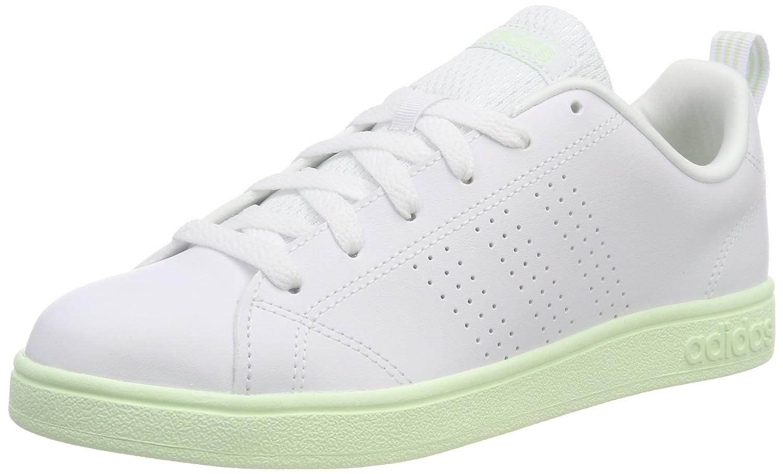 adidas Vs Advantage CL W, Zapatillas de Deporte Para Mujer 38 2/3 EU Blanco (Ftwr White/Ftwr White/Aero Green S18 Ftwr White/Ftwr White/Aero Green S18)