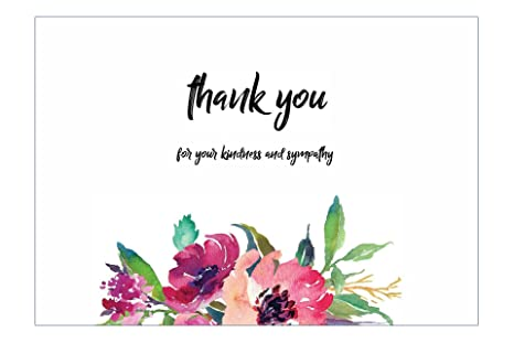 Amazon 20 flower funeral celebration of life thank you cards 20 flower funeral celebration of life thank you cards with envelopes sympathy floral thank you cards m4hsunfo