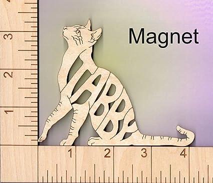 Wood Magnets Imanes de Madera con diseño de Gato – Regalo para Amantes de los Gatos