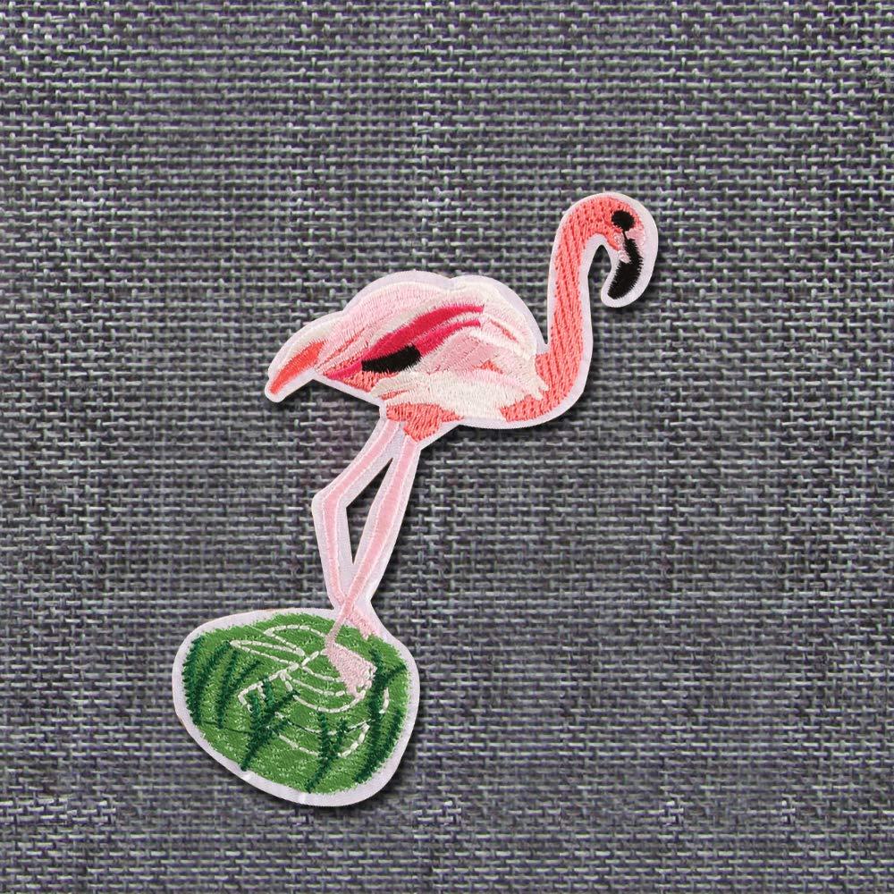 9 x 15 cm probeninmappx Parches de Costura Bordados con dise/ño de flamencos para Ropa