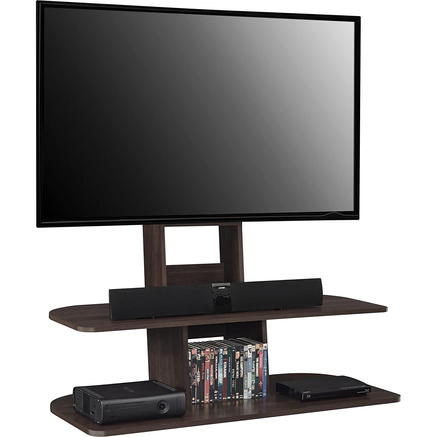wood tv stand with mount. amazon.com: ameriwood home galaxy tv stand with mount for tvs up to 65\ wood tv t