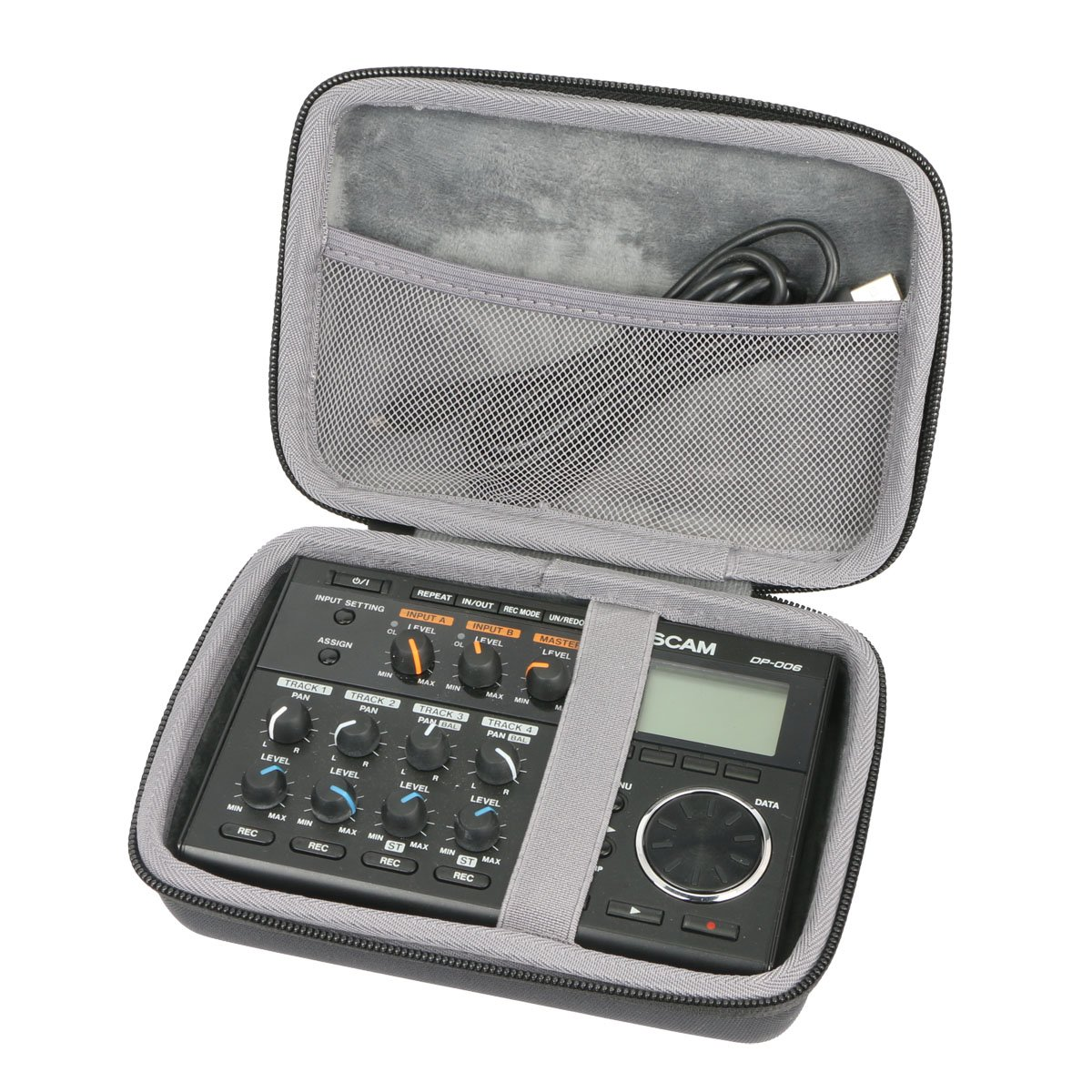 Hard Travel Case for Tascam DP-006 Digital Portastudio Multitrack Recorder by co2CREA
