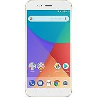 """Xiaomi Mi A1 - Smartphone libre de 5.5"""" (4G, WiFi, Bluetooth, Snapdragon 625 2.0 GHz, 64 GB de ROM ampliable con microSD, 4 GB de RAM, cámara dual de 12 Mp, Android One), oro [versión española]"""