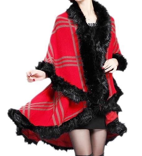 Mujer Chaqueta De Chal De Tela Escocesa De Otoño E Invierno Chal De Punto Tejida Abrigo Chaqueta De ...