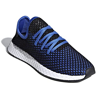 hot sales 1b64b bb43c adidas Originals Deerupt Runner Shoe Mens Casual 7 Hi Res Blue-Black