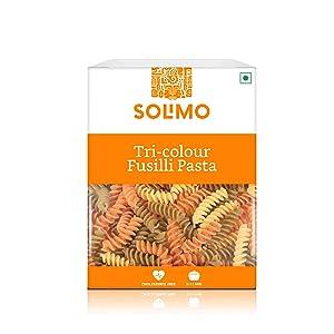 Amazon Brand - Solimo Tri-Colour Durum Wheat Fusilli Pasta, 500g