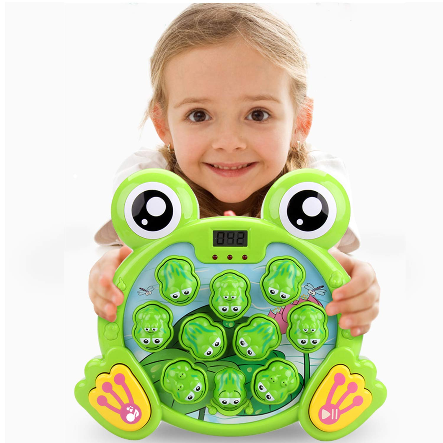 Girls,2 Hammers Included,Toy for Birthday /& Christmas Active Learning Fun Gift for Age 2-8 Years Old Kids Boys Whack a Frog Activity Game,Early Developmental Toy A Frogs Game