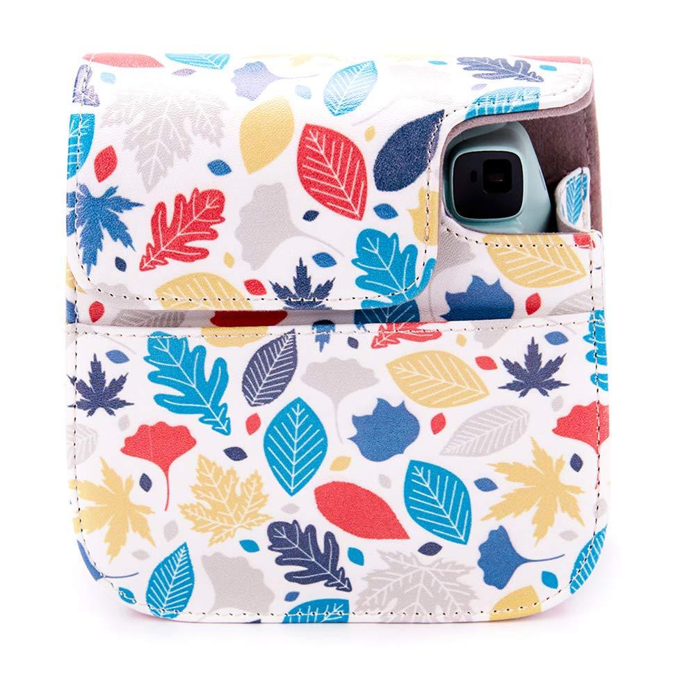 Protettiva in Pelle Soft PU con cinturino a spalla e tasca per Instax Mini 8 8+//Mini 9 Fotocamera istantanea Sweetheart A Annle Custodia Compatibile con Instax Mini 9
