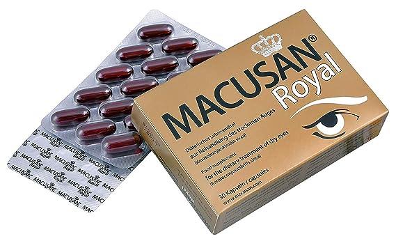 Macusan® Royal Capsule para la degeneración macular relacionada con la edad (AMD) | luteína zeaxantina, omega-3 | y keracoconjunctivitis sicca (