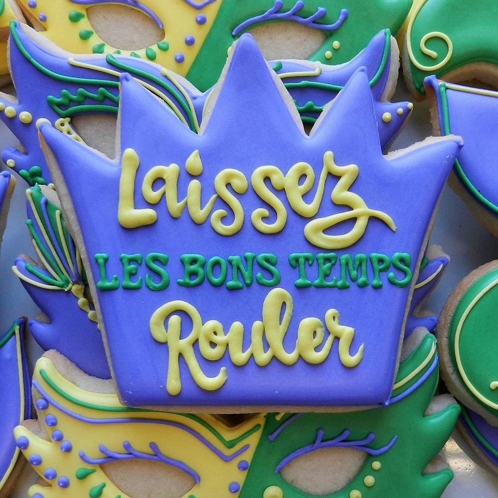 Mardi Gras / New Orleans Cookie Cutter Set - 4 piece - King Crown, Princess Crown, Mask and Fleur de Lis - Ann Clark - Tin Plated Steel by Ann Clark Cookie Cutters (Image #3)
