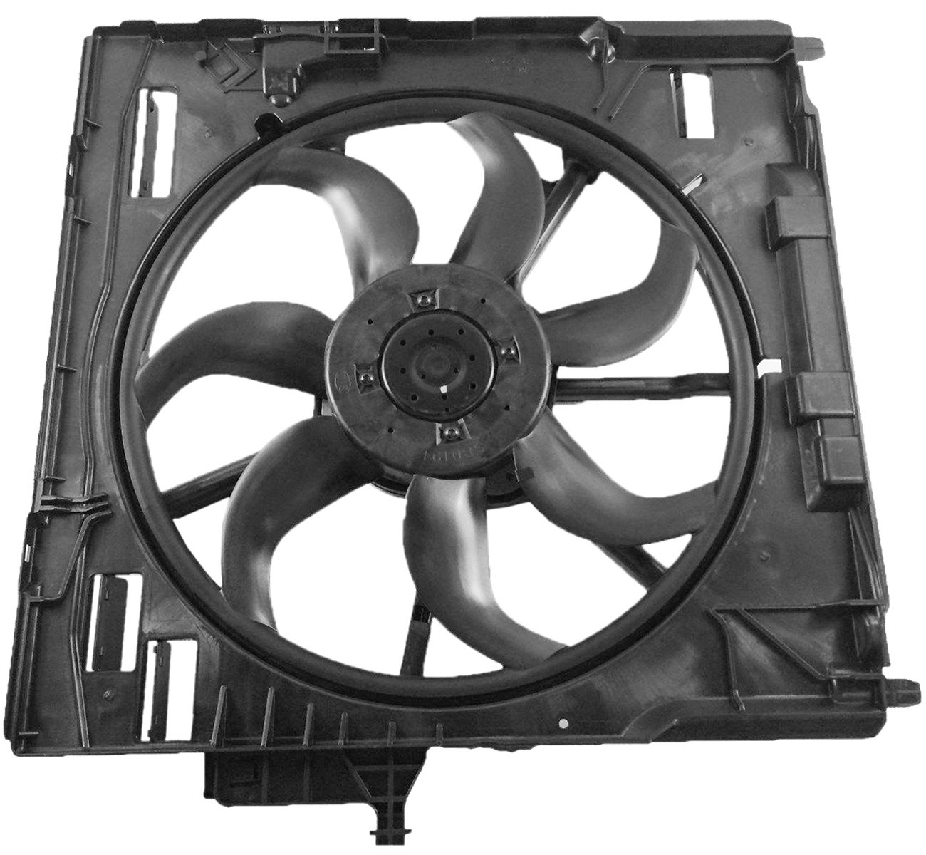 TOPAZ 17427598740 Radiator Cooling Fan Motor Assembly for BMW E70 X5 07-10