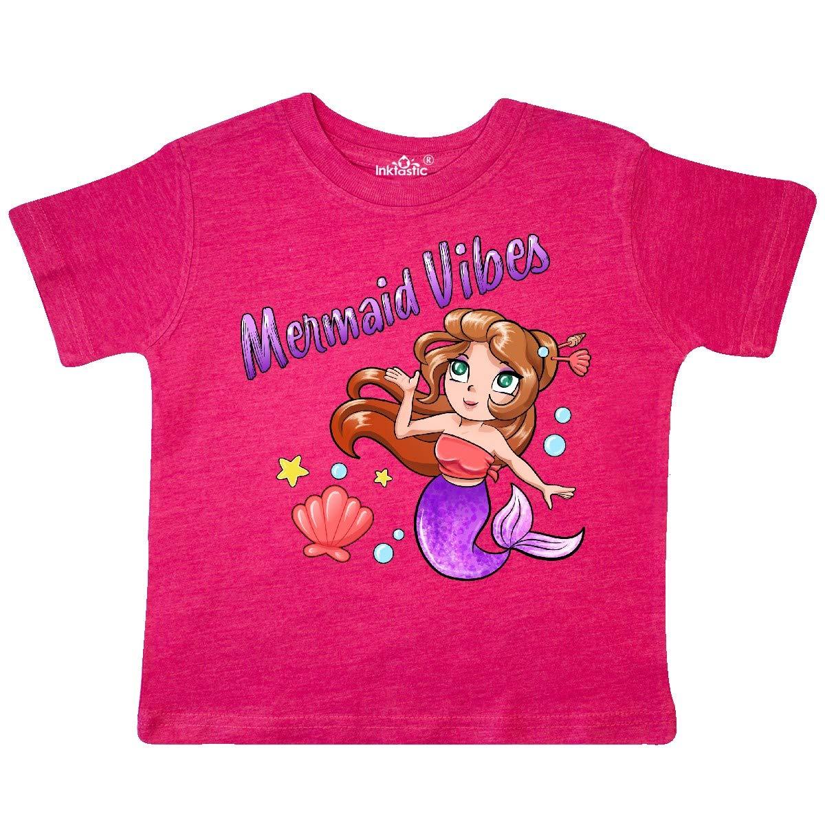 Cute Mermaid with Purple Tail Toddler T-Shirt inktastic Mermaid Vibes