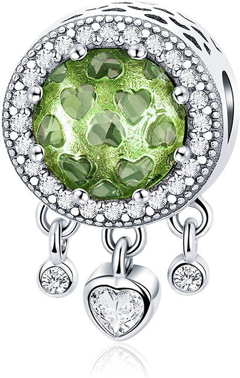 Muerdou Birthstone Charm Fit Pandora Charms Bracelets And Necklaces Birthday Gifts For Woman Girl Amazon Co Uk Jewellery