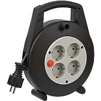 Brennenstuhl Vario Line Kabelbox 4-voudig/mini-kabelhaspel (indoor kabelhaspel voor huishouden, 5 m kabel, Made in…