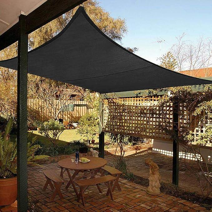 Eterbiz Toldo Impermeable, toldo Rectangular, protección Solar para balcón, toldo 2 x 3, Fabricado en poliéster, jardín/balcón/terraza (2 x 3 m): Amazon.es: Jardín