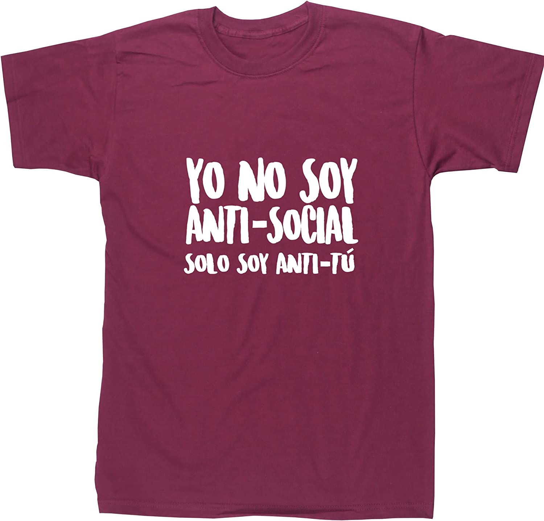 Hippowarehouse Yo no soy Anti-Social Solo Soy Anti-Tú Camiseta Manga Corta Unisex: Amazon.es: Ropa y accesorios