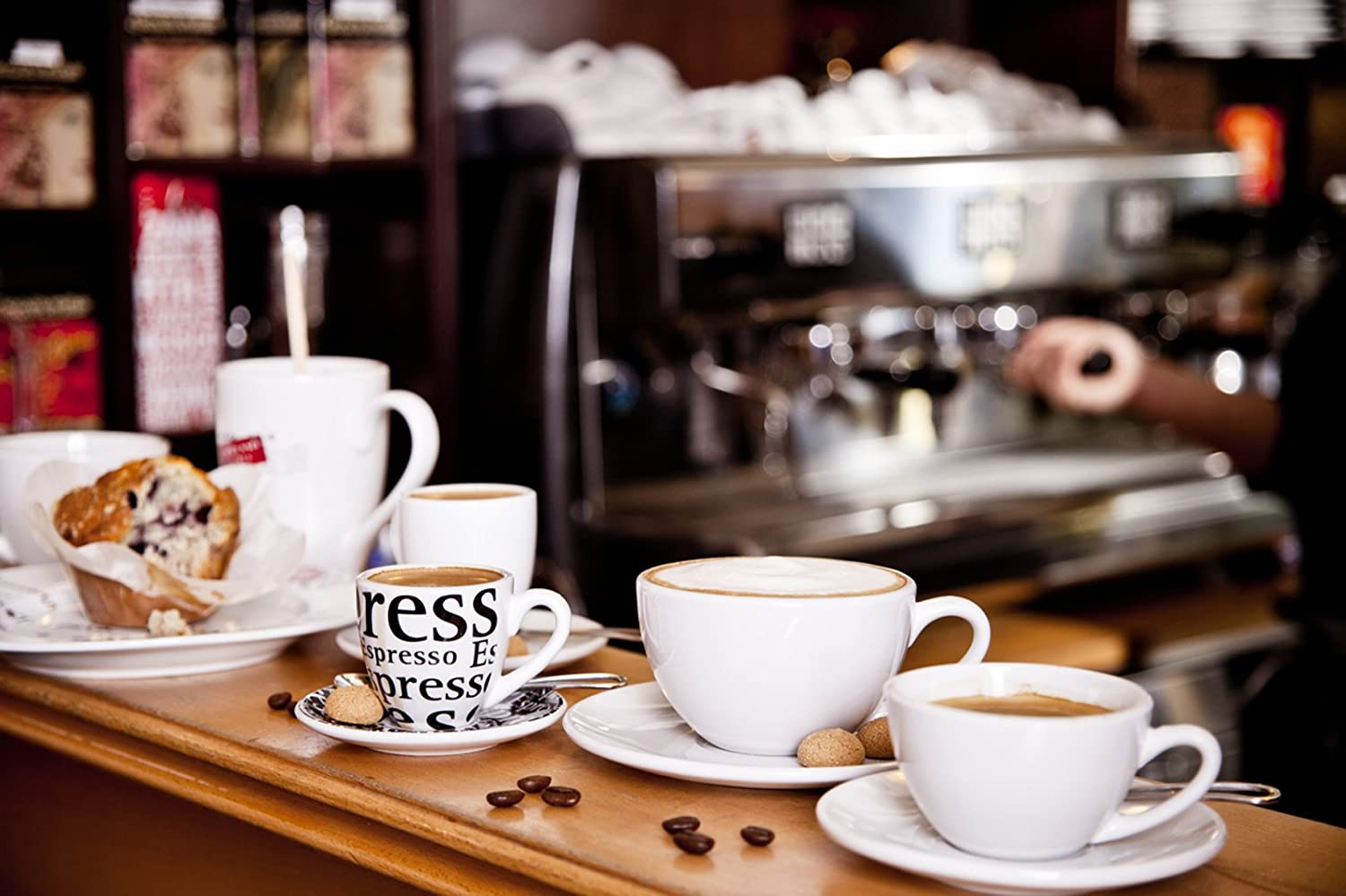konitz coffee bar cappuccino ounce cups and saucers set of   - konitz coffee bar cappuccino ounce cups and saucers set of  whiteamazonca home  kitchen