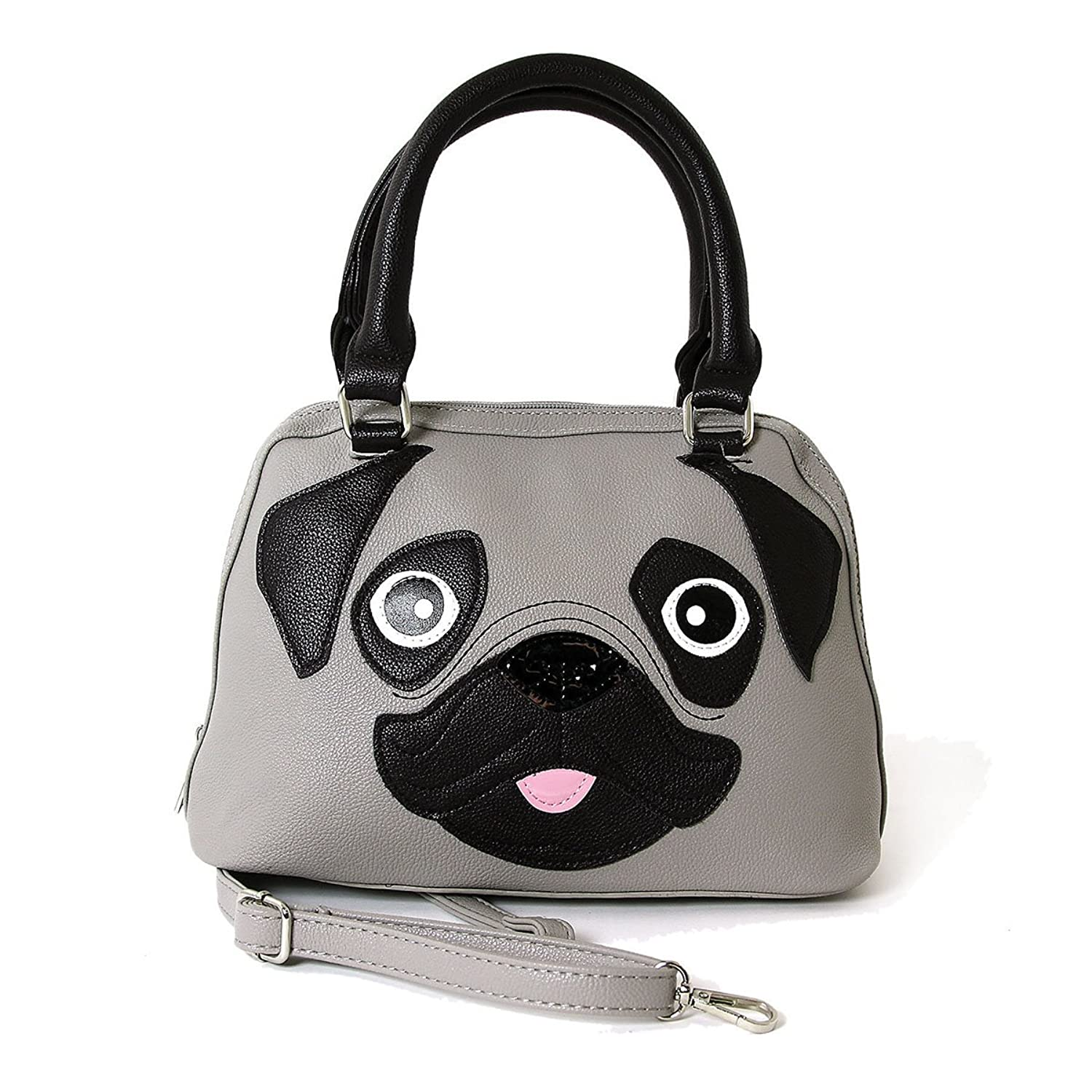 Cute Little Pug Puppy Satchel Handbag
