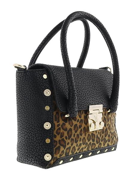 7ae81c6eca875 Versace Jeans E1VQBBM4 75459 Damen Handtaschen Leder Schwarz  Amazon ...