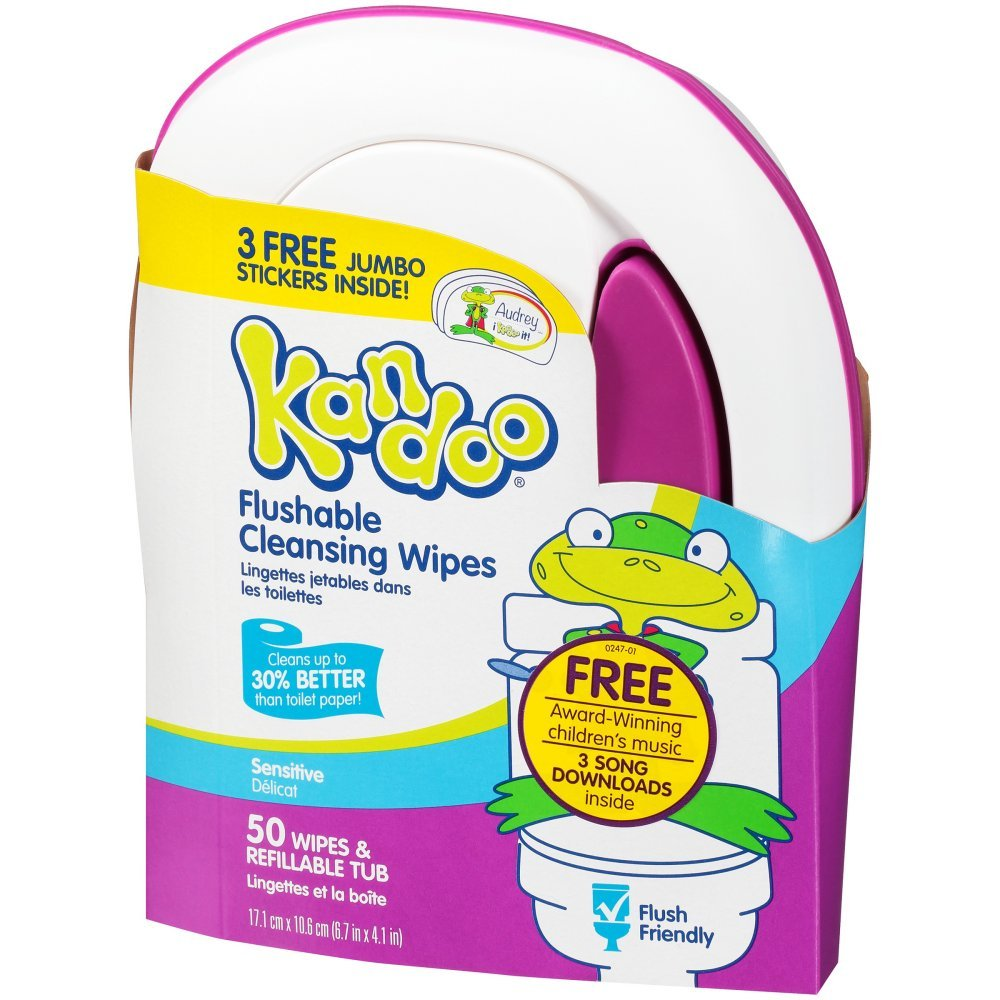 Kandoo Flushable Toddler Wipes 50 Ct Nehemiah Manufacturing