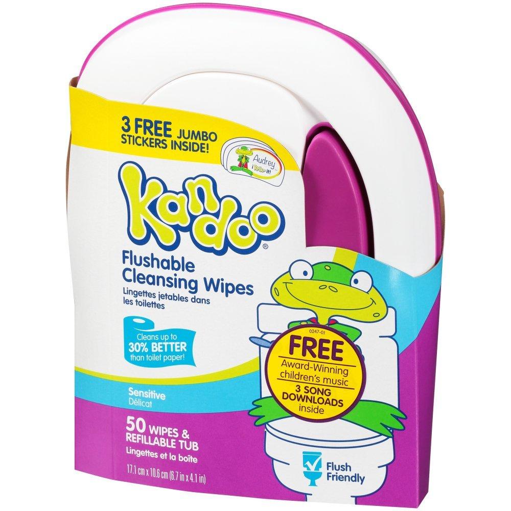 Pampers Kandoo Flushable Toddler Wipes Sensitive Tub - 50 Ea Procter & Gamble